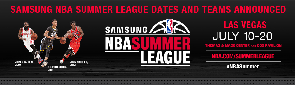 Samsung NBA Summer League Dates and Teams Announced
