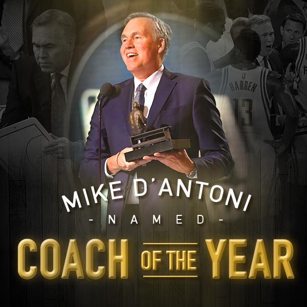 mike d antoni wins 2016 17 nba coach of the year award hallpass