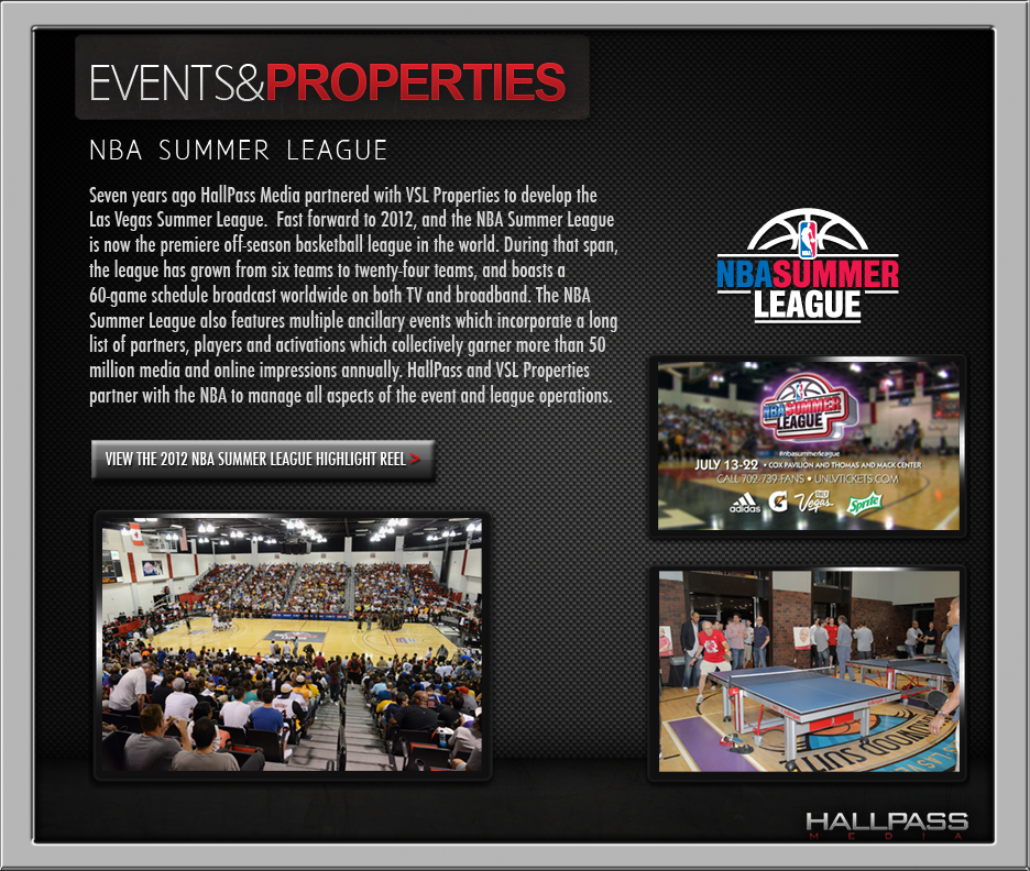 NBA Summer League-Event Management